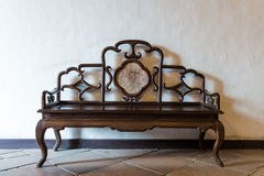 Antique style chinese bench Stock Photography