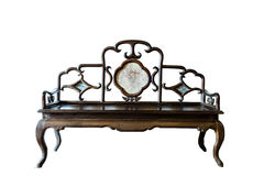 Antique style chinese bench Stock Photo
