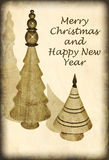 Antique Style Christmas Card Royalty Free Stock Photo