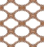 Antique oval frames seamless pattern Royalty Free Stock Photos