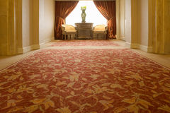 Antique style hotel lobby Royalty Free Stock Images