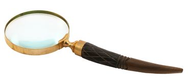 Antique-style magnifying glass Royalty Free Stock Photography