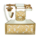 Antique Style Phone Stock Photo