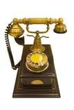 Antique style phone. Isolated on white background royalty free stock photo