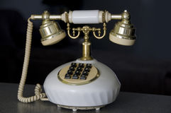 Antique style phone Stock Photography