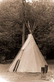 Antique Style Photograph of Indian Tipi Royalty Free Stock Photography
