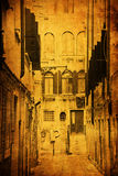 Antique style picture of an alley in Venice Stock Photography