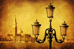 Antique style picture of Venice Stock Photos