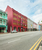 Antique style shophouse building in Chinatown in Singapore Royalty Free Stock Images