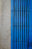 Antique style steel door color blue Royalty Free Stock Photography