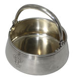 Antique sugar bowl, silver,  late 19th - early 20th Stock Image
