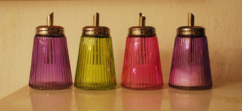 Antique Sugar Dispensers Royalty Free Stock Photography