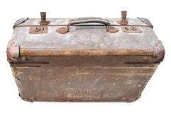 Antique Suitcase. Isolated on White Background Stock Photography