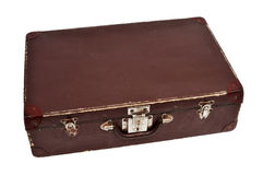 Antique suitcase. An antique suitcase on a white background Royalty Free Stock Photo