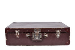 Antique suitcase. An antique suitcase on a white background Stock Photo
