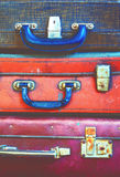 Antique Suitcases, оld Vintage trunks Royalty Free Stock Images