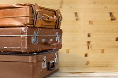 Antique suitcases Royalty Free Stock Image