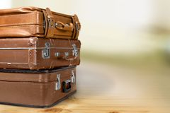 Antique suitcases Royalty Free Stock Photo