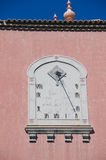 Antique Sundial on house wall Royalty Free Stock Image