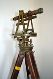 Antique Surveying equipment. This antique surveying equipment is on display at Fort Richardson State Park in Jacksboro, Texas Royalty Free Stock Photos