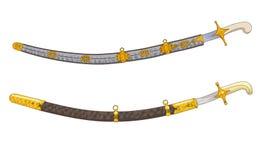 Antique swords. Illustration on white Stock Illustration