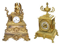 Antique table clocks Royalty Free Stock Photo