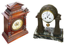 Antique table clocks Royalty Free Stock Photography