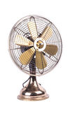 Antique table fan electric ventilator on white background Stock Image