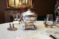 Antique table setting Royalty Free Stock Photography