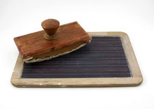 Antique tablet and blotter. Are isolated Royalty Free Stock Image