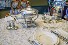 Antique tableware Stock Images