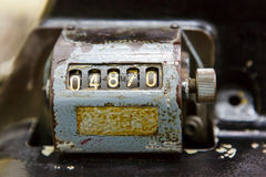 Antique tally counter Stock Photos