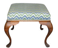 Antique Tapestry Stool Royalty Free Stock Images