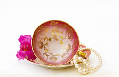 Antique tea cup isolated with clipping path Stock Photography