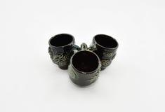 Antique tea cup. Three piece Stock Photos