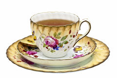 Antique Tea Cup With Tea. Royalty Free Stock Images