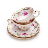 Antique tea cups royalty free stock photography