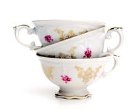 Antique tea cups Stock Photos