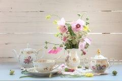 Antique tea set Stock Photos