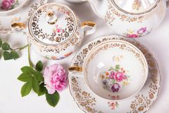 Antique tea set Royalty Free Stock Image