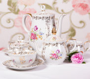 Antique tea set Royalty Free Stock Photos