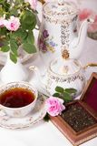 Antique tea set Royalty Free Stock Images