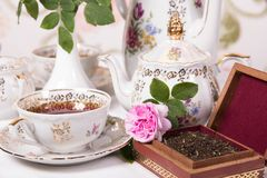 Antique tea set Stock Photography
