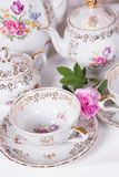 Antique tea set Stock Images