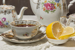 Antique tea set Stock Photo