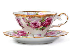 Antique Teacup and Saucer Royalty Free Stock Photos