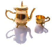 Antique Teapot and Cup I Stock Images