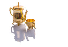 Antique Teapot and Cup II Stock Photo