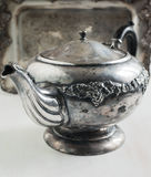 Antique teapot stock photo