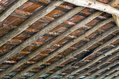 Antique technique of roof construction Royalty Free Stock Images
